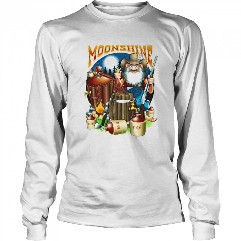 Moonshine Pappy's Moonshine Empire Gamer T-shirt Long Sleeved T-shirt