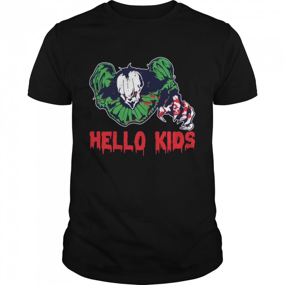 Hello Scary Clown Party Halloween Spirit Clown Shirt