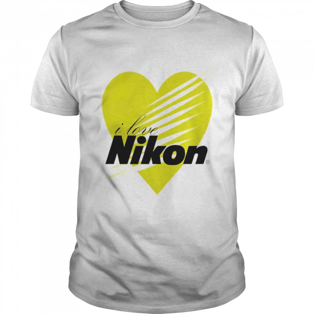I love Nikon heart shirt
