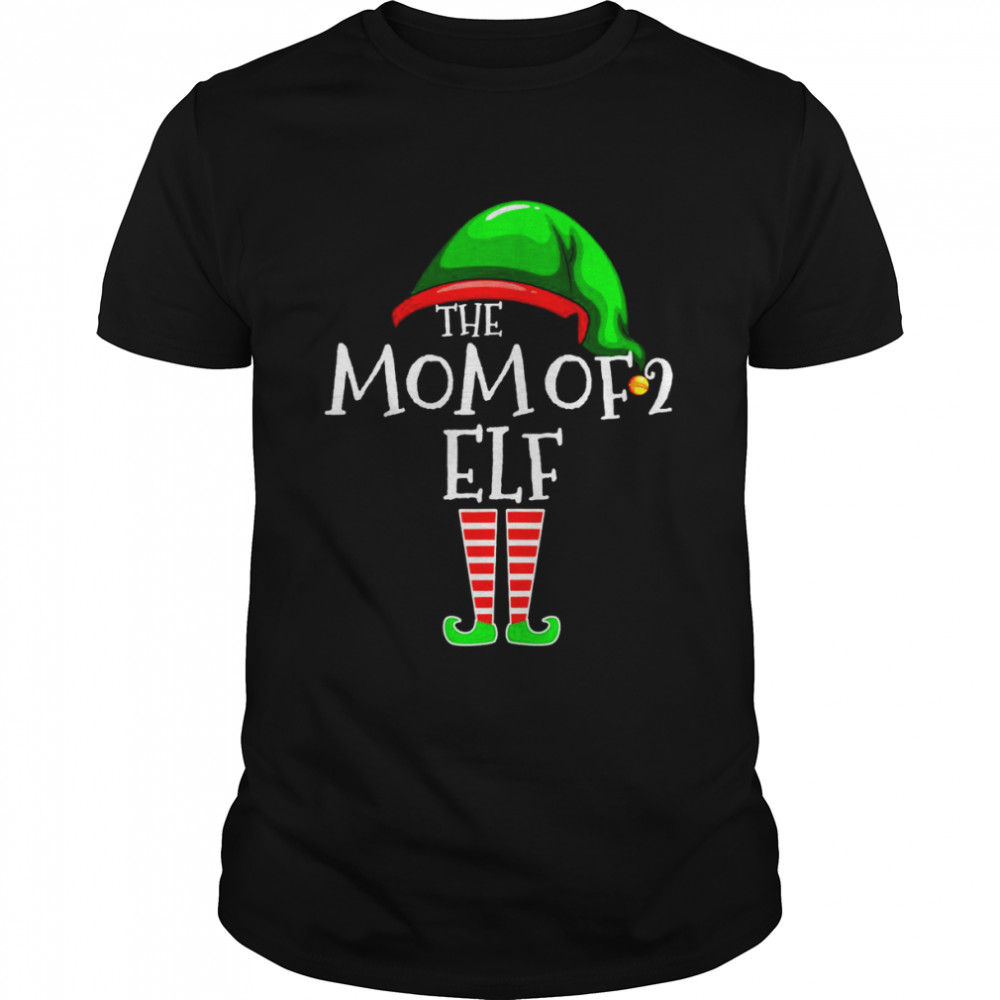 The Mom Of 2 Elf Family Matching Group Christmas Mommy Shirt