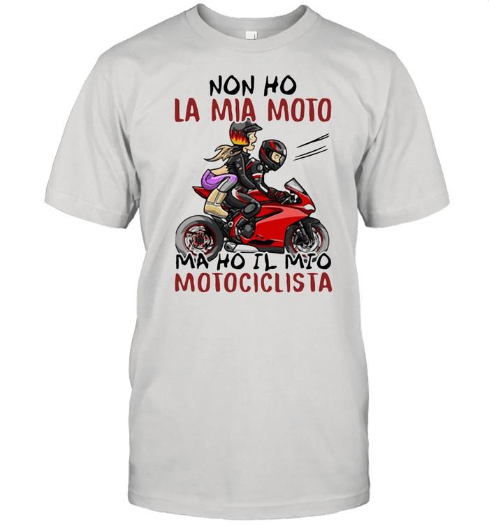 Sad La Mia Moto Motociclista Bakker And Visser shirt Classic Men's T-shirt
