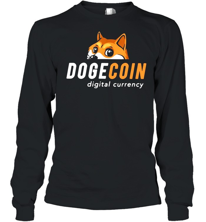 Dogecoin Digital Currency shirt Long Sleeved T-shirt