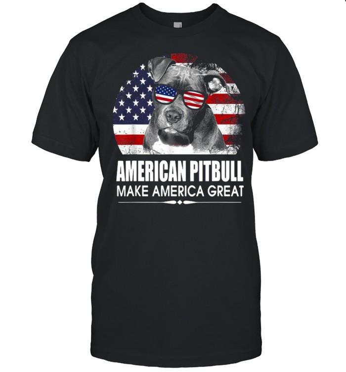 American Pitbull Make America Great 2021 Flag shirt Classic Men's T-shirt