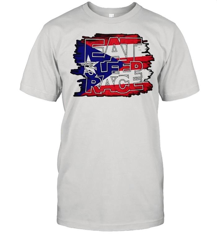 eat sleep race american shirt Classic Men's T-shirt