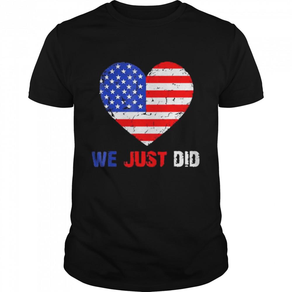 Joe biden kamala 2021 we just did vintage shirt Classic Men's