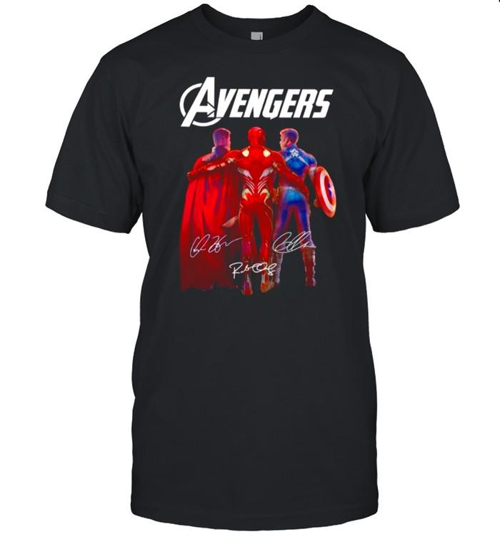 The Marvel Avengers Iron Man Chris Evans And Thor 2021 Signatures shirt Classic Men's T-shirt