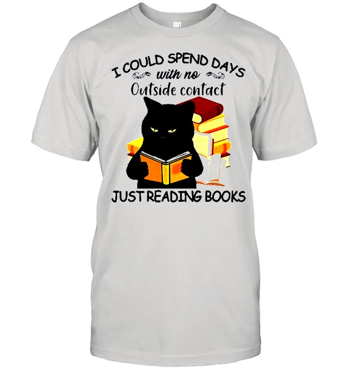 Black Cat reading book I could spend days just shirt Classic Men's T-shirt