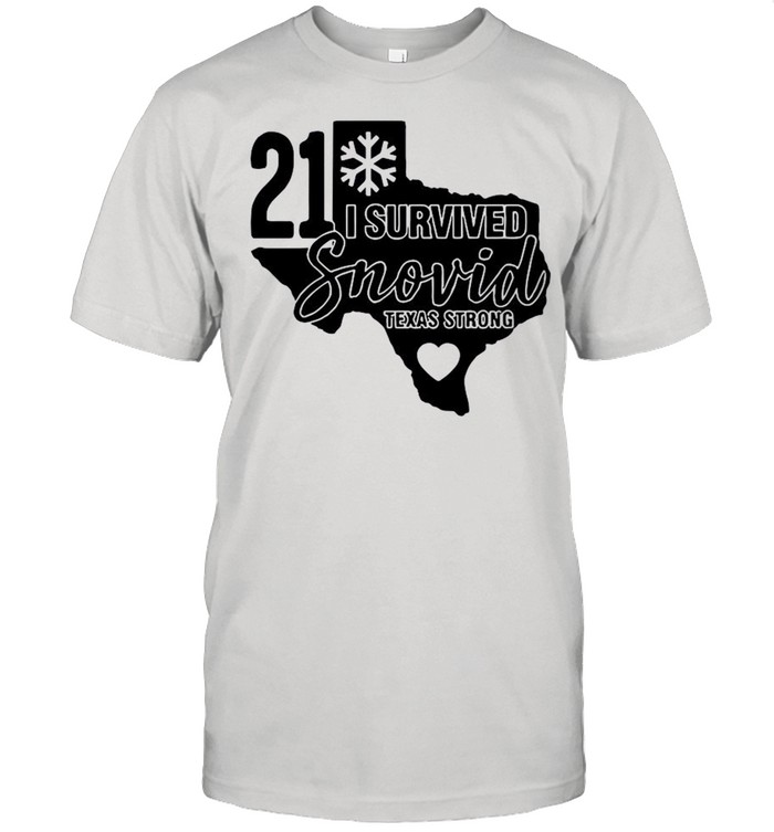 I Survived Snowvid 21 Texas Strong Snovid 2021 Tee shirt Classic Men's T-shirt