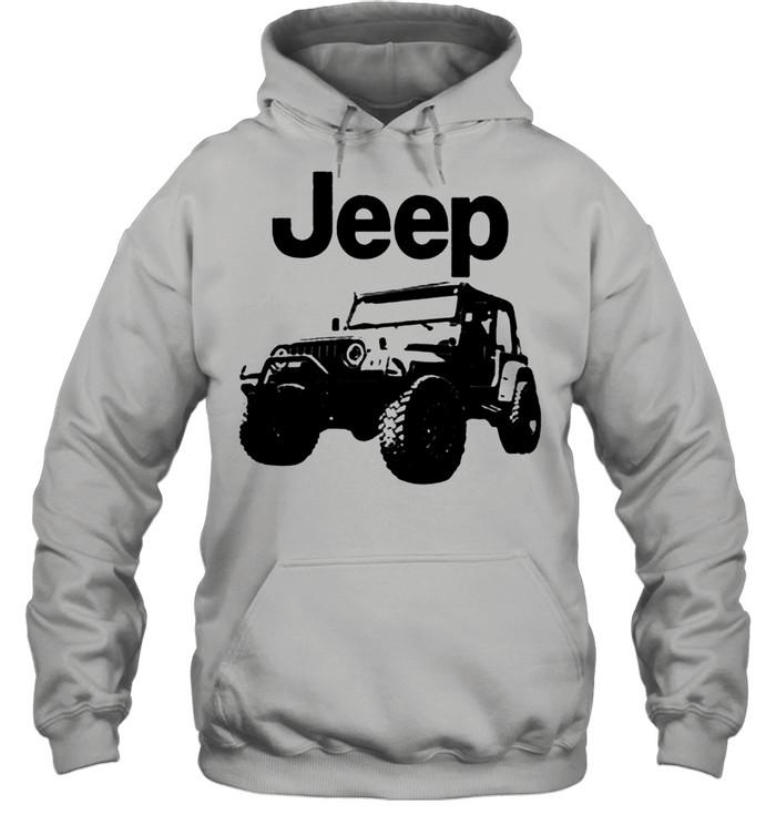 Love jeep shirt Unisex Hoodie