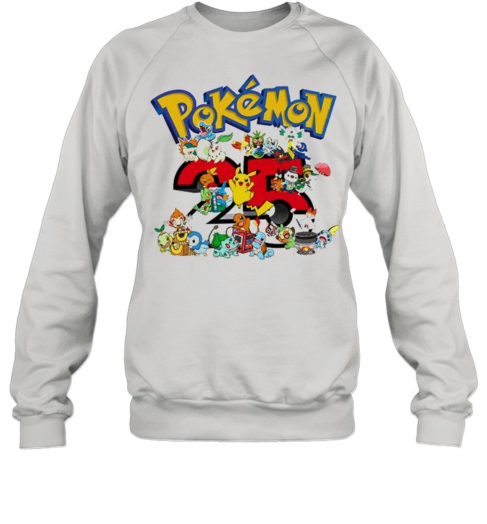 Pokemon 25th Anniversary shirt Unisex Sweatshirt