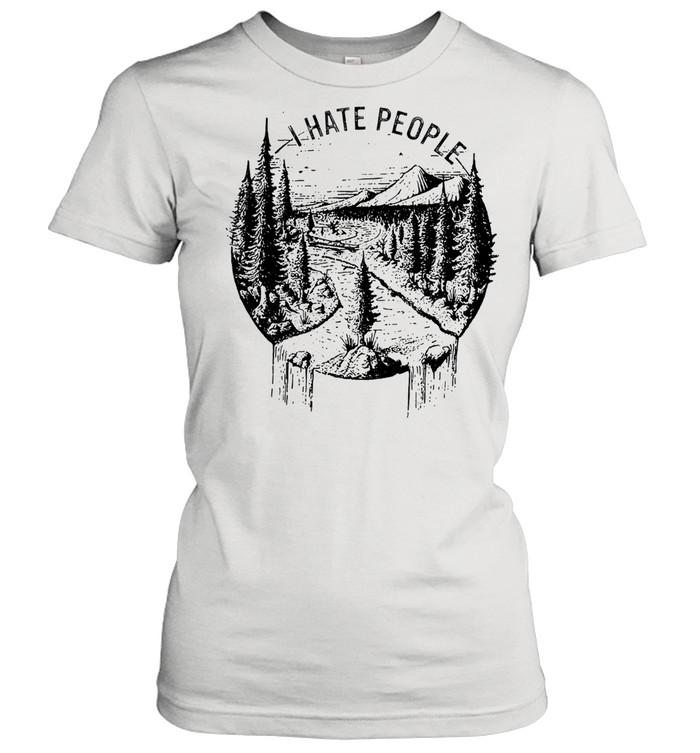 I hate people tshirt Classic Women's T-shirt