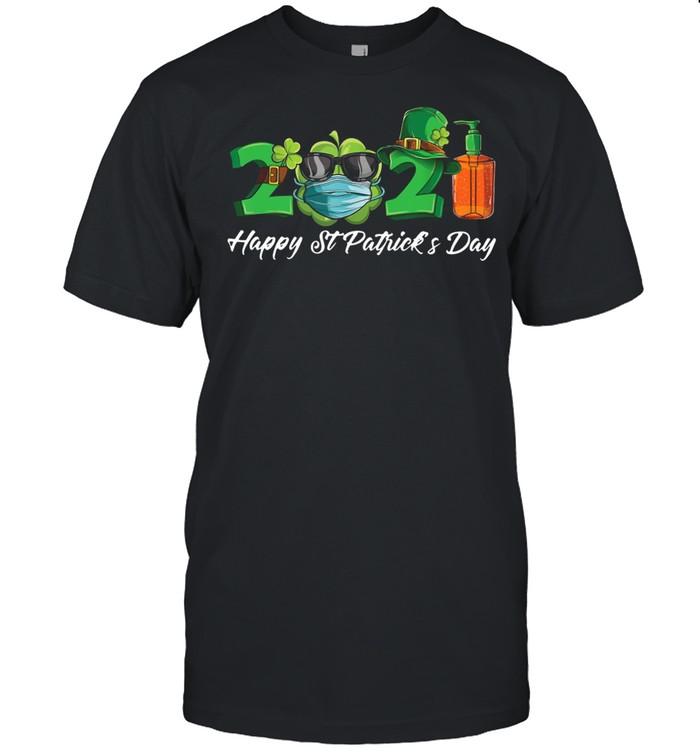 2021 Shamrock Face Mask Happy St Patrick's Day shirt Classic Men's T-shirt
