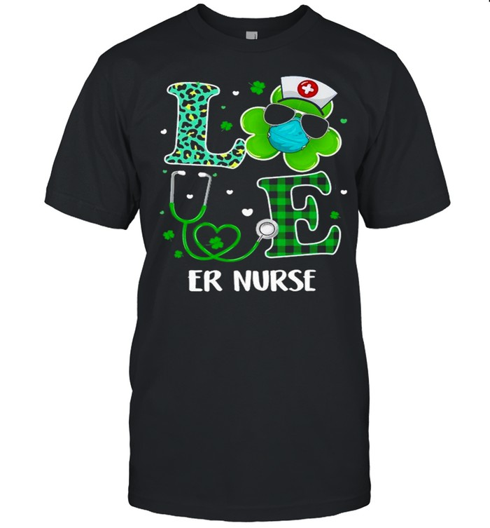 Ph 2021 St Patricks Day Love Er Nurse Funny Shamrock shirt Classic Men's T-shirt