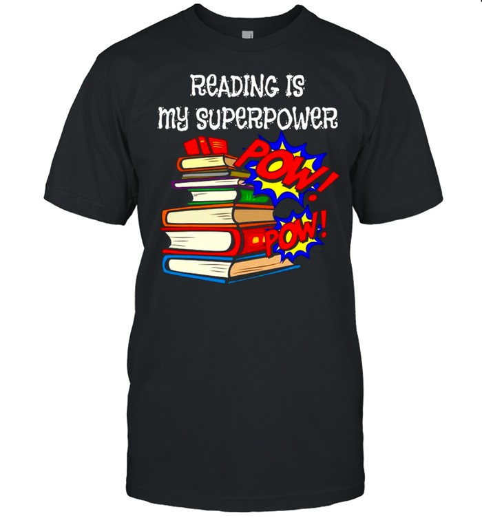 Reading Is My Super Power Superhero Best English Teacher shirt Classic Men's T-shirt