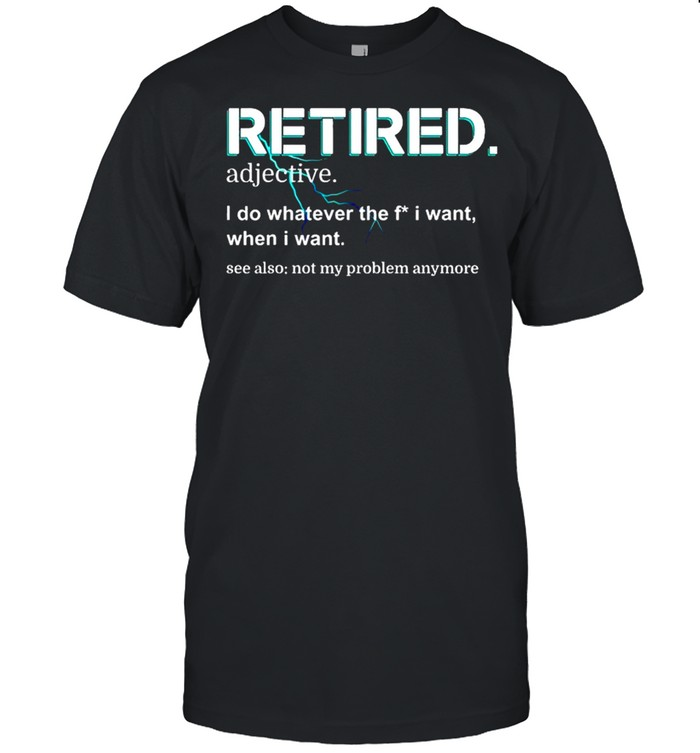 Retired Definition Retirement shirt Classic Men's T-shirt
