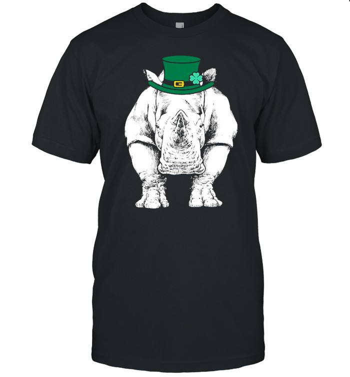 Rhino St. Patrick's Day Safari Animal Lover shirt Classic Men's T-shirt