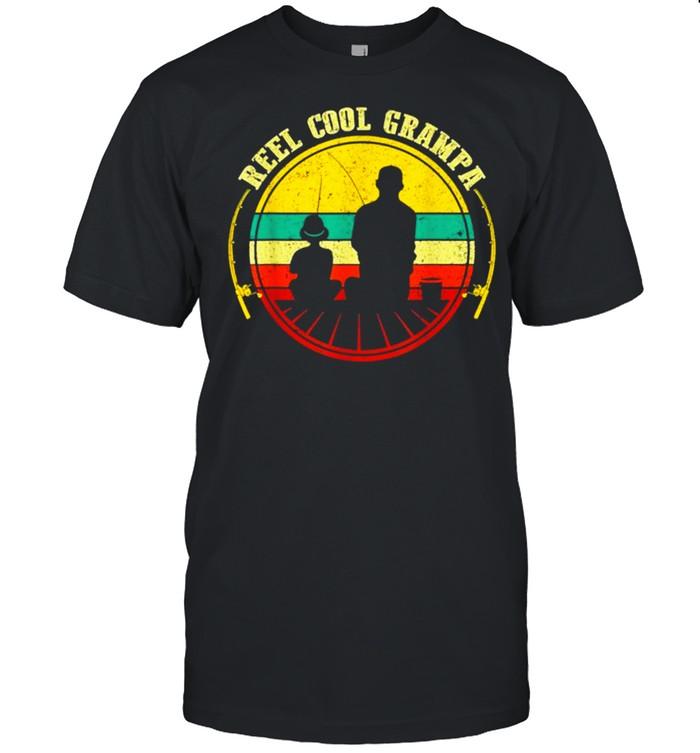 Reel Cool Grampa Fathers Day Fishing shirt Classic Men's T-shirt