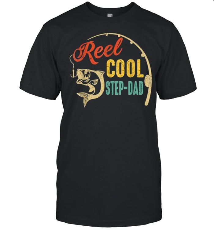 Vintage Fishing Reel Cool Step Dad shirt Classic Men's T-shirt