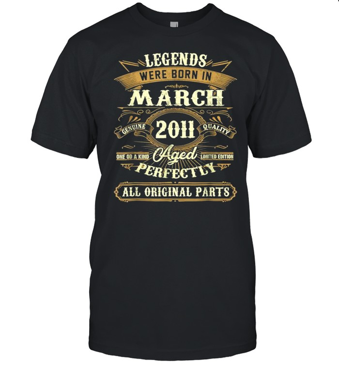 Legends Were Born In March 2011 10th Birthday Gift Tee  Classic Men's T-shirt