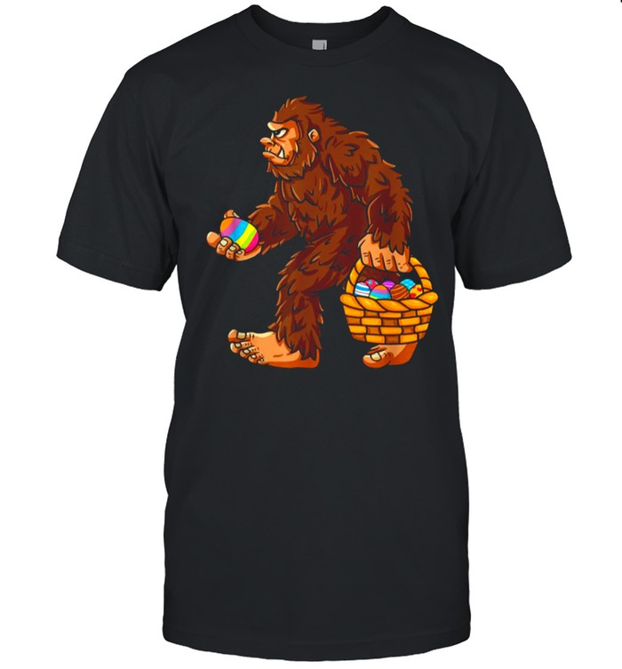 Bigfoot Eggs Basket Happy Easter 2021 shirt Classic Men's T-shirt