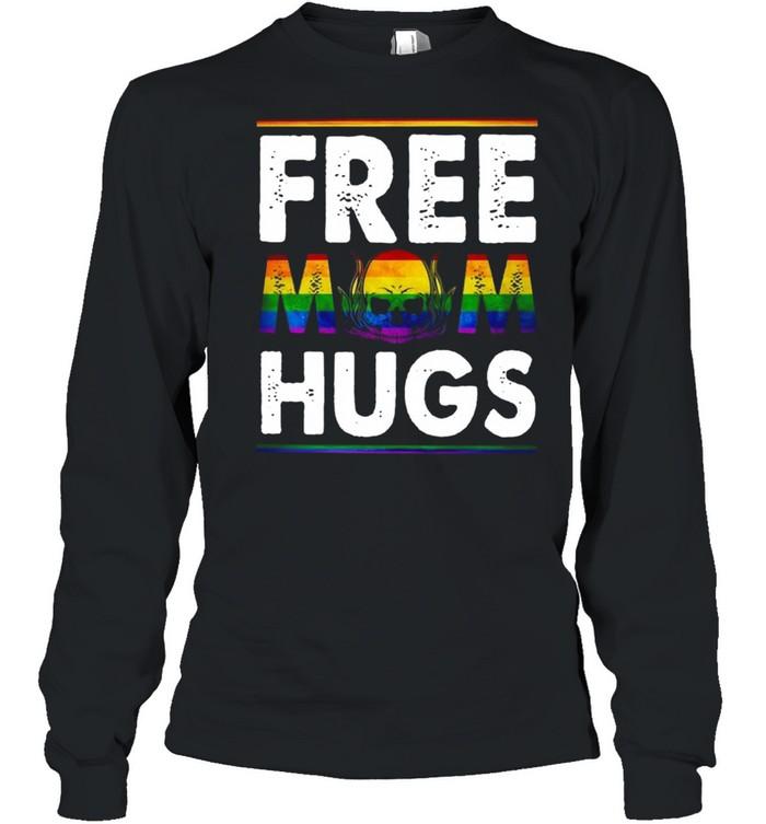 Free Mom Hugs Mothers Day Skull shirt Long Sleeved T-shirt