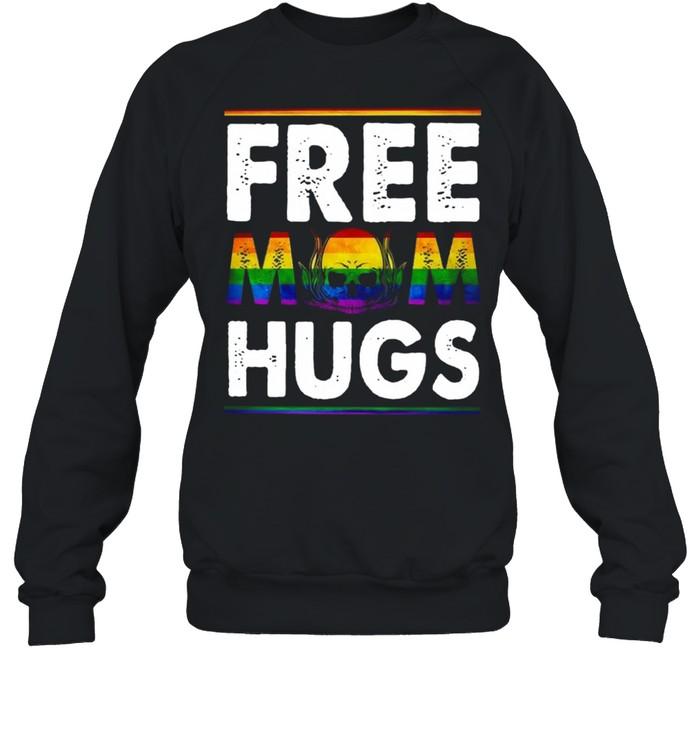Free Mom Hugs Mothers Day Skull shirt Unisex Sweatshirt