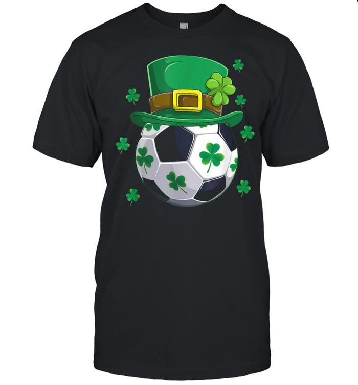 Soccer St Patricks Day Leprechaun Shamrock Boys shirt Classic Men's T-shirt