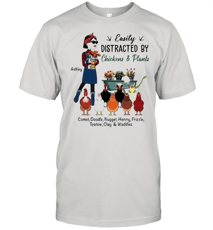 Easily Distracted By Chickens And Plants  Classic Men's T-shirt