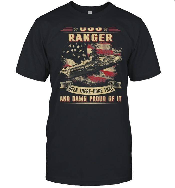 Proud of USS Ranger CV61 shirt Classic Men's T-shirt