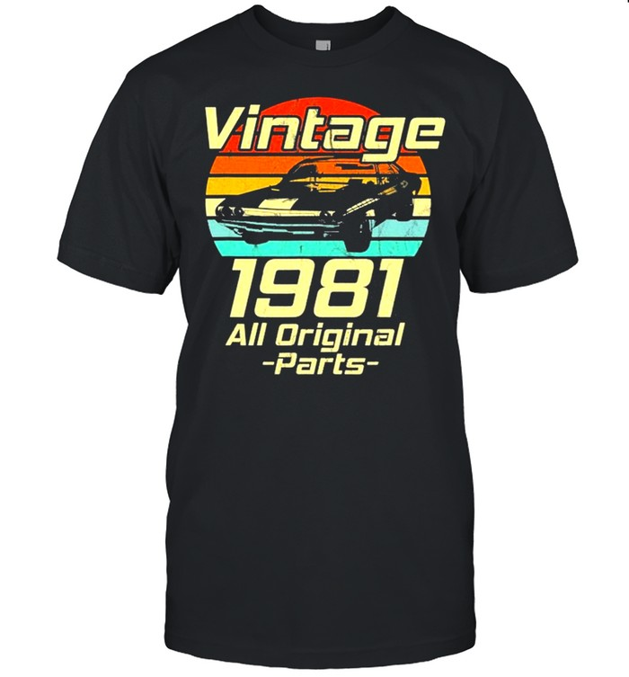 Vintage 1981 40Th Birthday Classic Muscle Car Lover  Classic Men's T-shirt