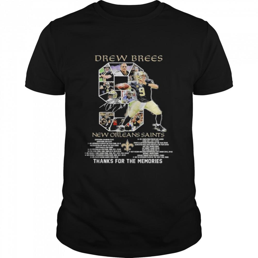 9 Drew Brees New Orleans Saints 2006 2020 Thanks For The Memories  Classic Men's T-shirt