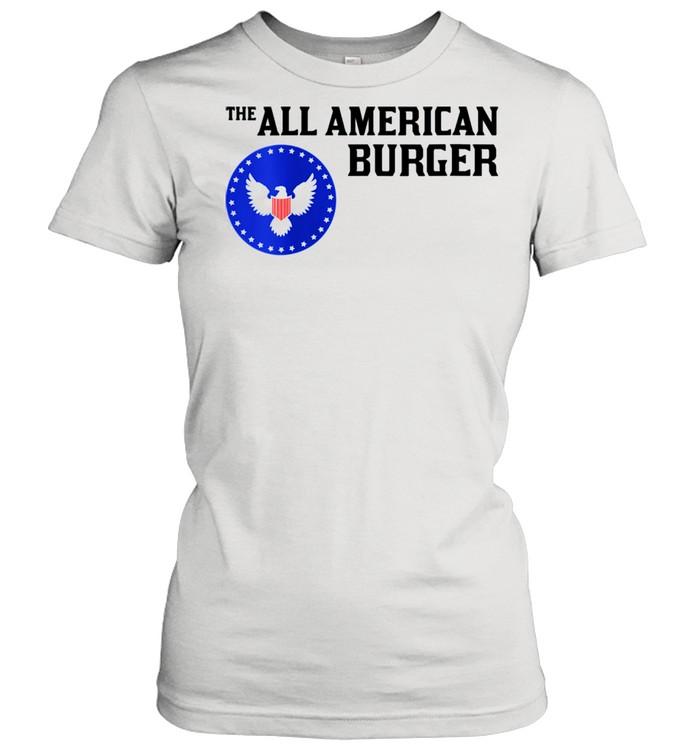 1980s Hamburger The All American Burger shirt Classic Women's T-shirt