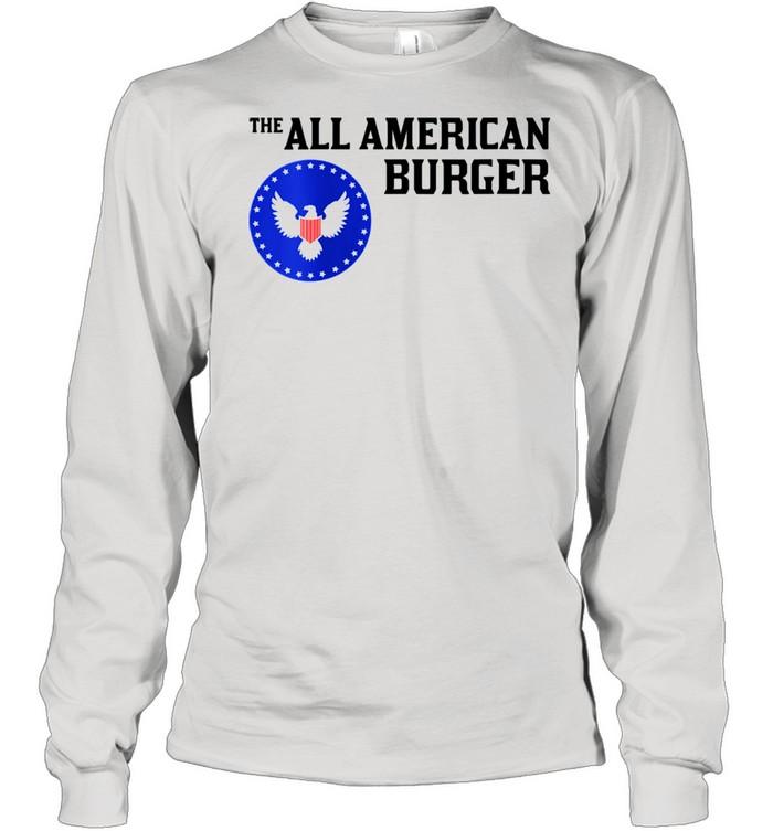 1980s Hamburger The All American Burger shirt Long Sleeved T-shirt