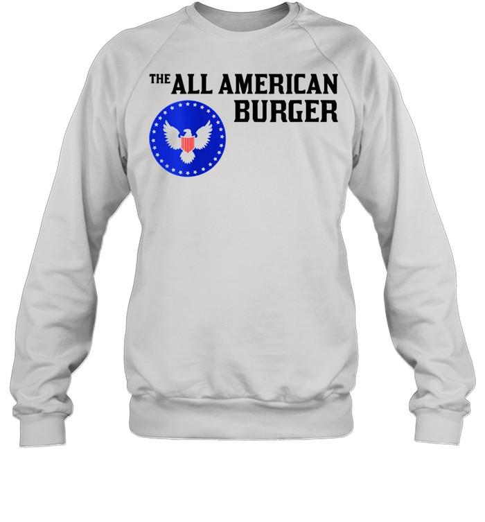 1980s Hamburger The All American Burger shirt Unisex Sweatshirt