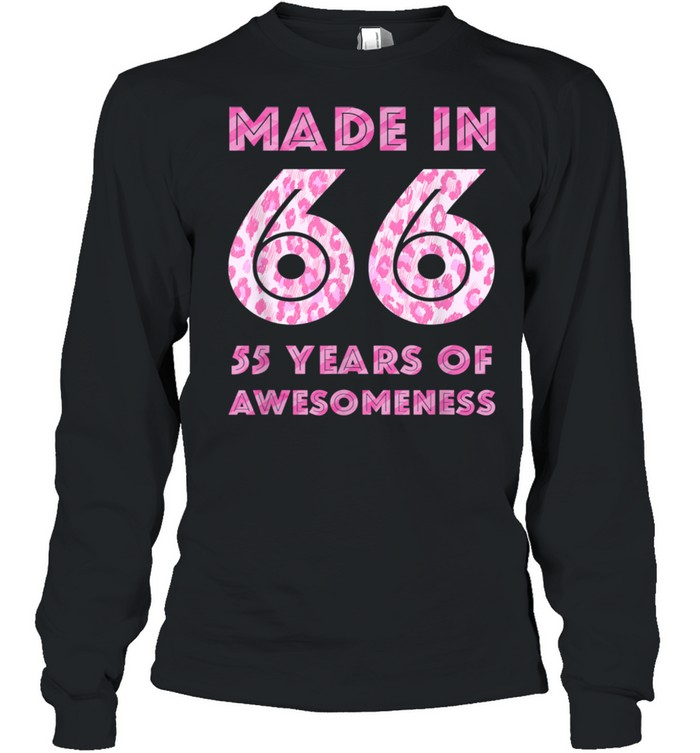 55th Birthday Man 55 Year Old Son Daughter 19 shirt Long Sleeved T-shirt