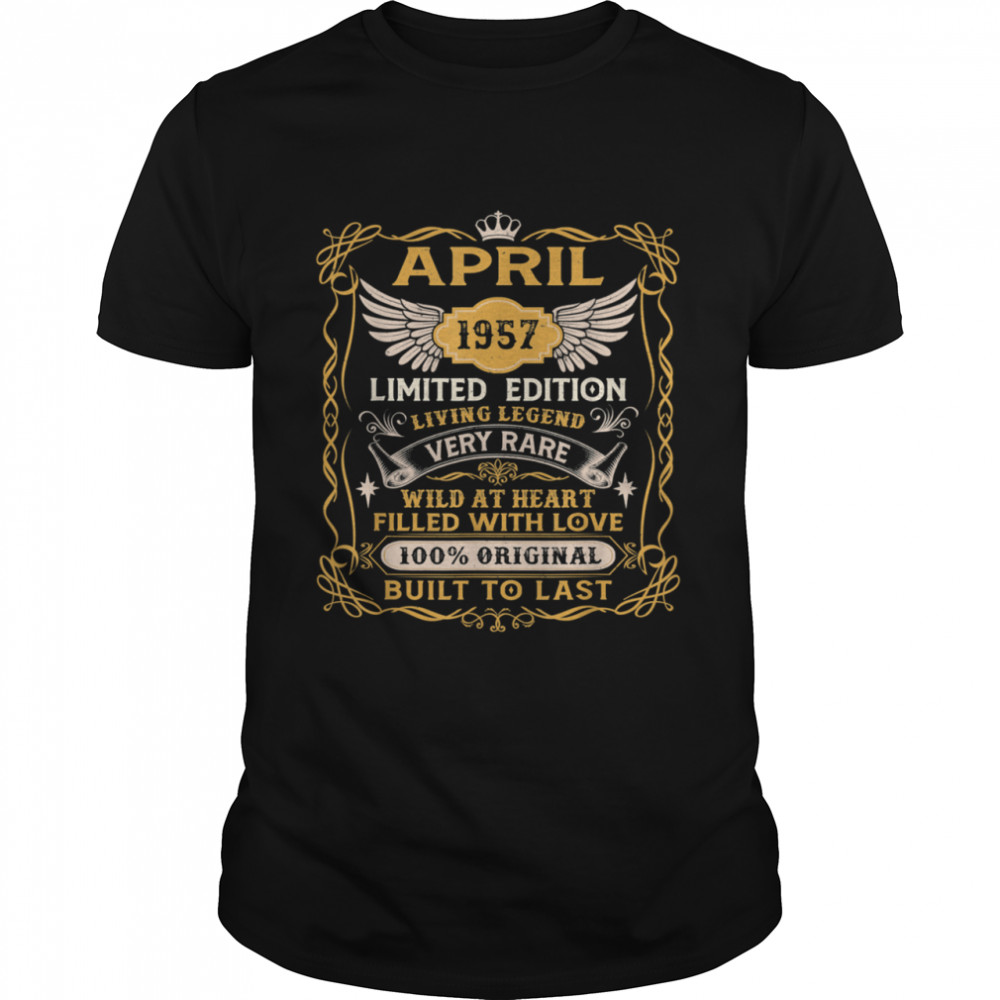 64th Birthday Decoration April 1957 64 Years Old shirt Classic Men's T-shirt