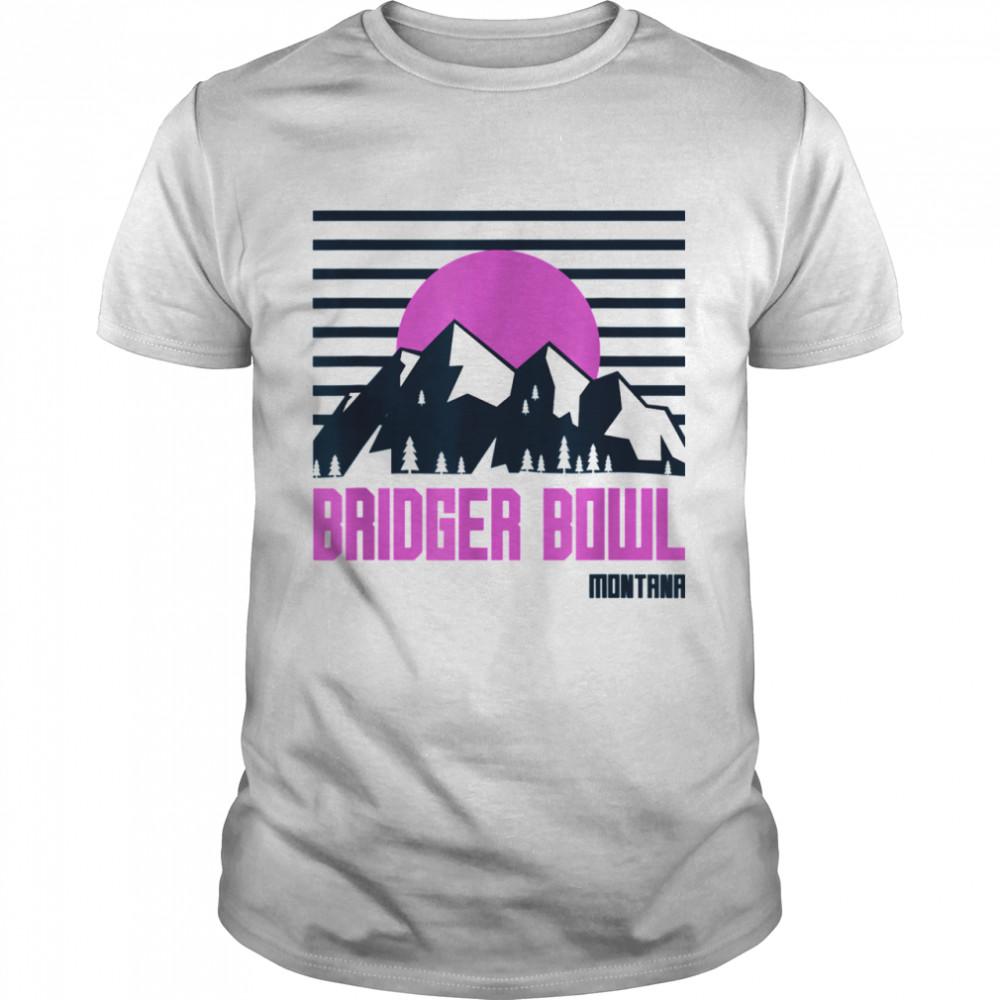 Bridger Bowl Vintage Mountains Hiking Montana Retro shirt Classic Men's T-shirt