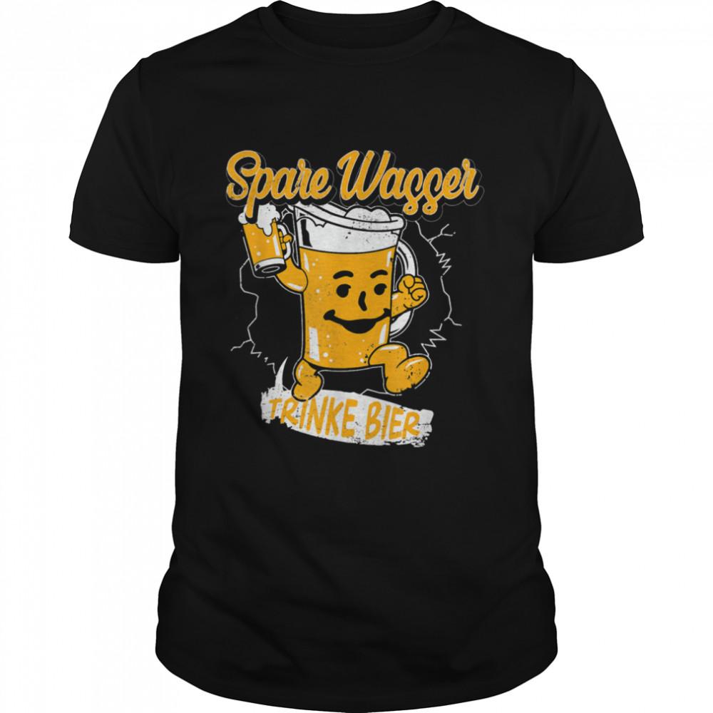 Save Water Drink Beer German Beer Beer Drinker shirt Classic Men's T-shirt