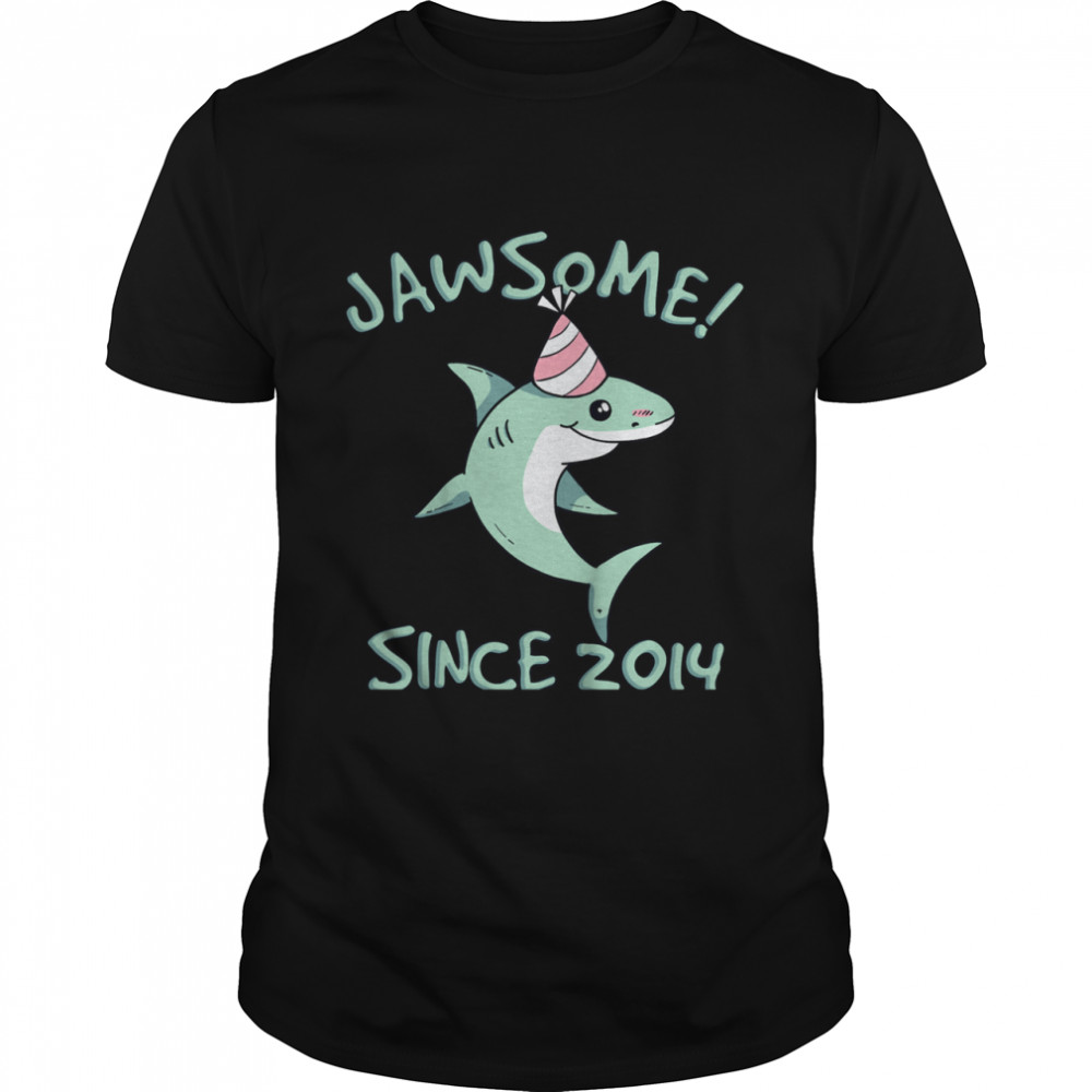 Shark Awesome Since 2014 Watch Out I'm 7 Years Old shirt Classic Men's T-shirt