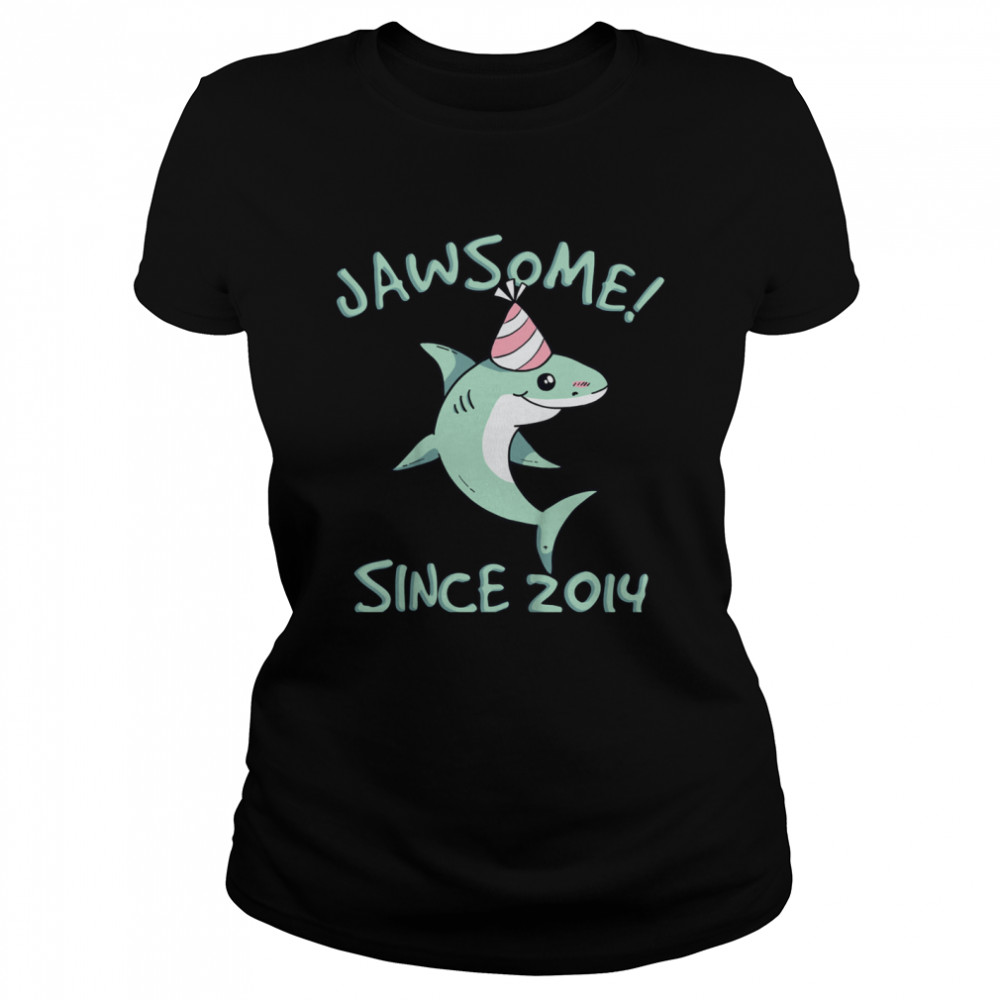 Shark Awesome Since 2014 Watch Out I'm 7 Years Old shirt Classic Women's T-shirt