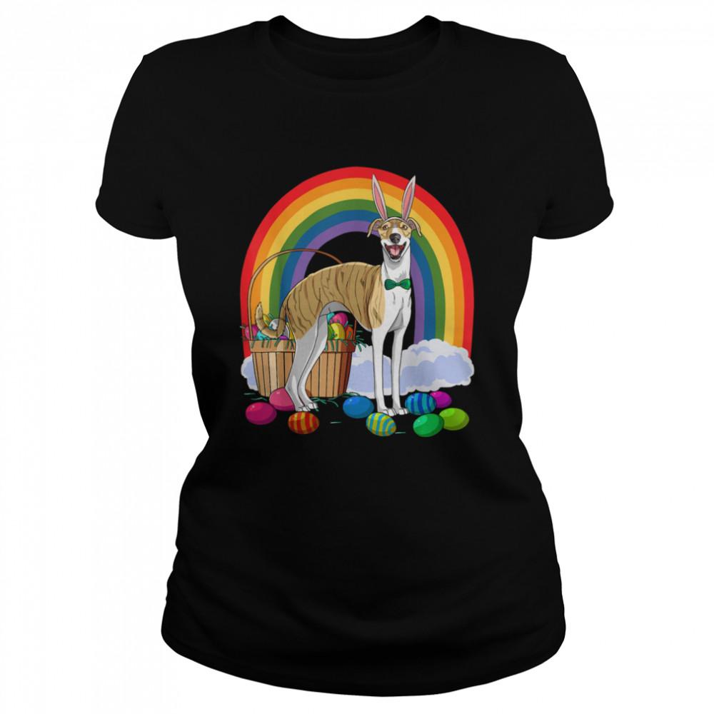 Whippet Easter Eggs Bunny Dog shirt Classic Women's T-shirt
