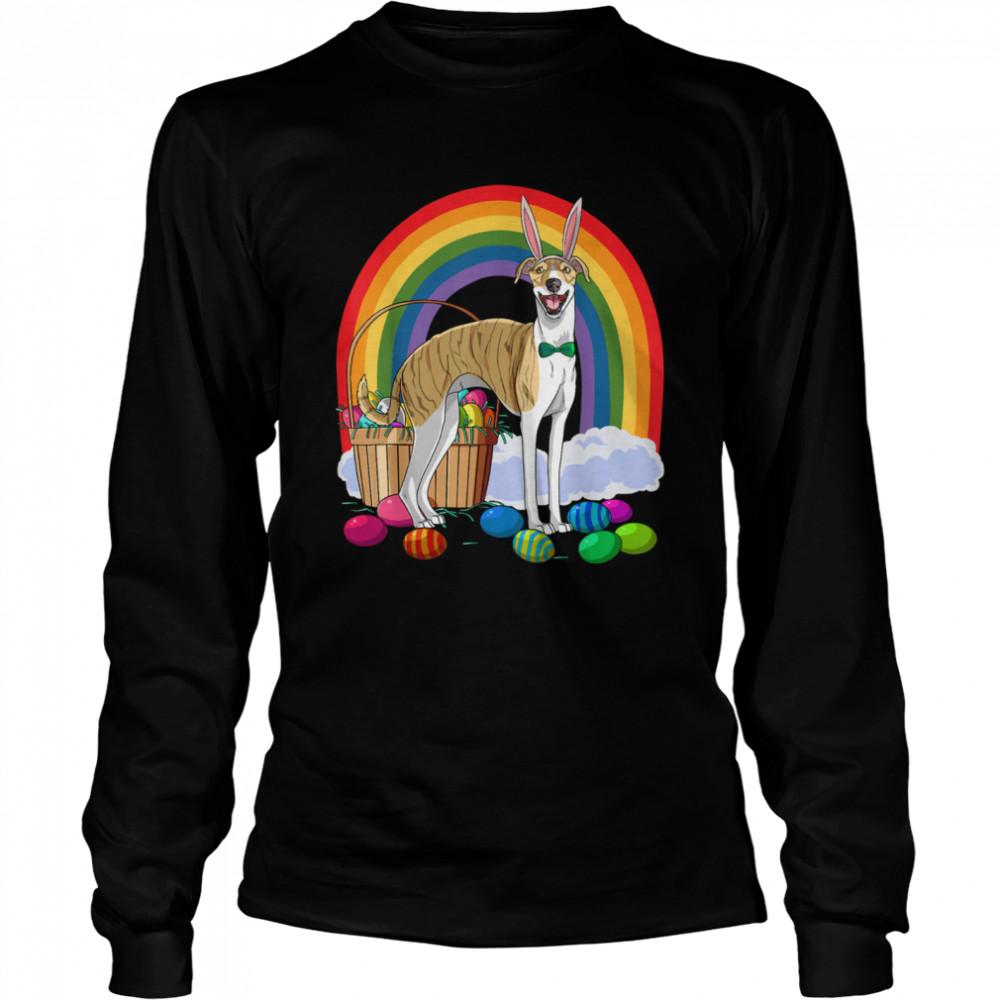 Whippet Easter Eggs Bunny Dog shirt Long Sleeved T-shirt