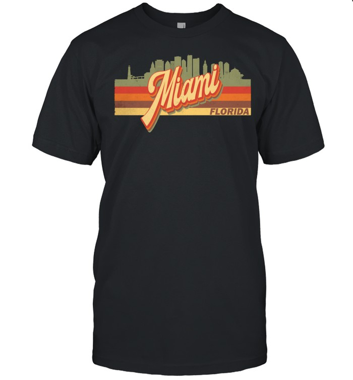Vintage 80s 70s MIAMI Retro Florida shirt Classic Men's T-shirt
