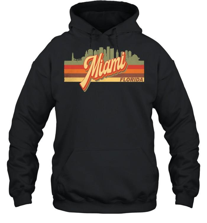 Vintage 80s 70s MIAMI Retro Florida shirt Unisex Hoodie