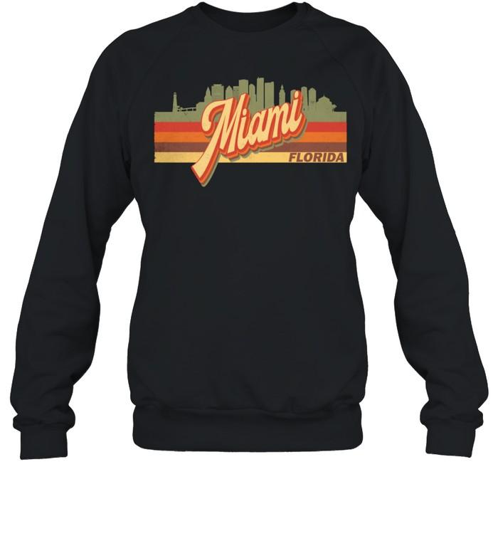 Vintage 80s 70s MIAMI Retro Florida shirt Unisex Sweatshirt