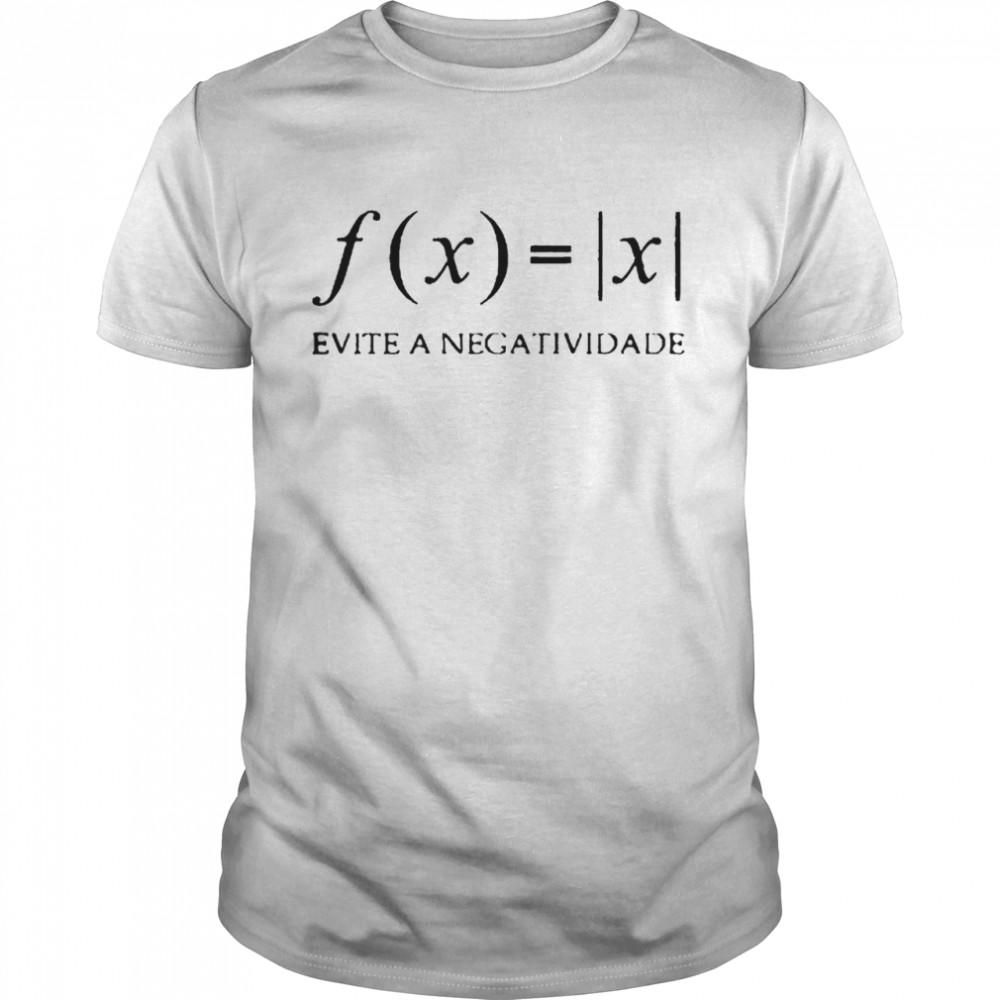 Camiseta preta evite a negatividade shirt Classic Men's T-shirt