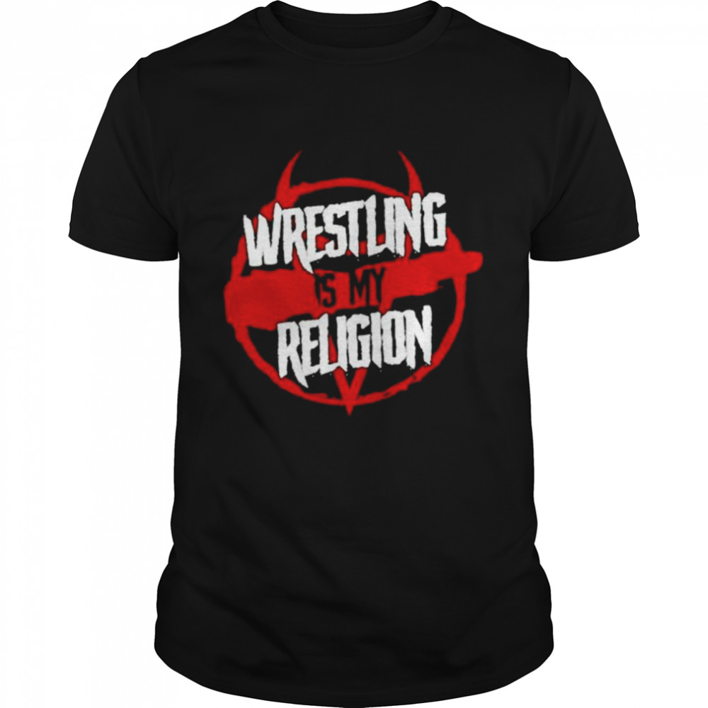 Wrestling is my Religion shirt Classic Men's T-shirt