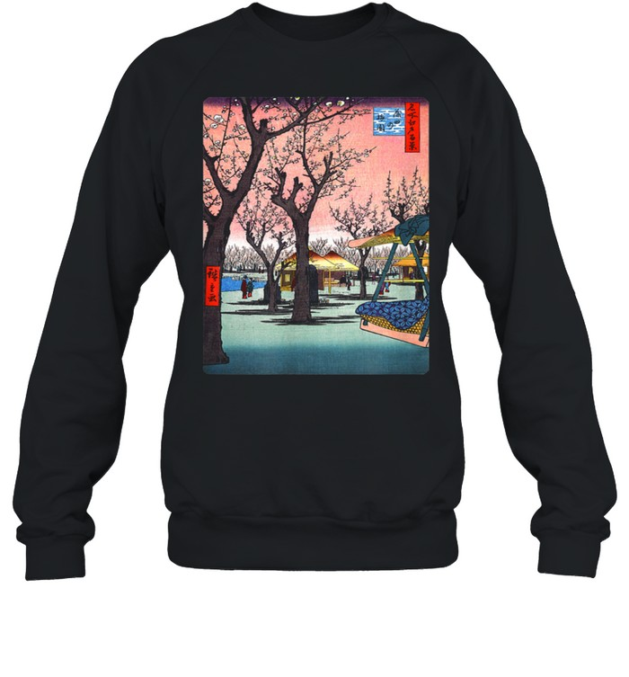 Famous Vintage Japanese Art Plum Garden Hiroshige Stylish  Unisex Sweatshirt