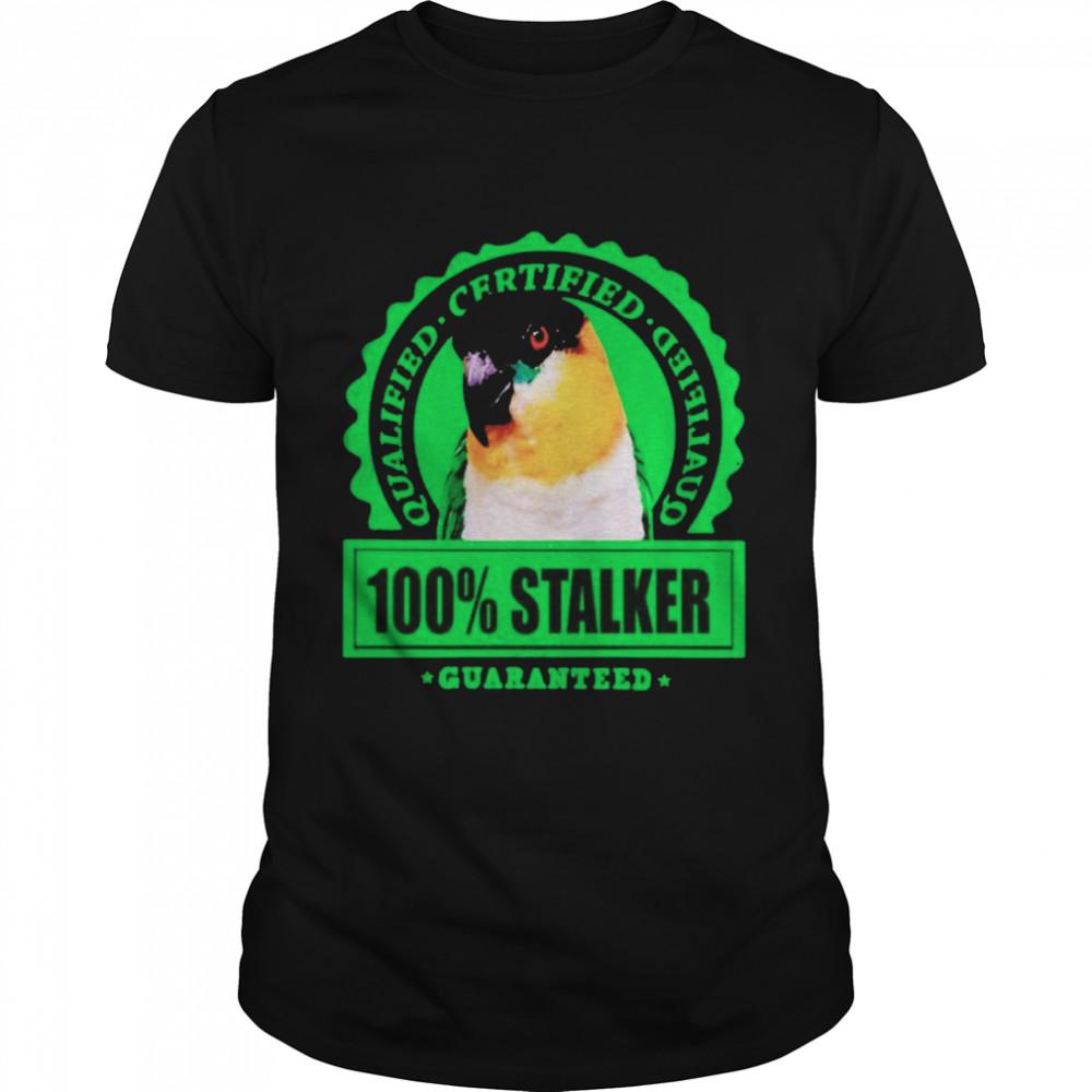 Parrot qualified certified 100% stalker shirt Classic Men's T-shirt