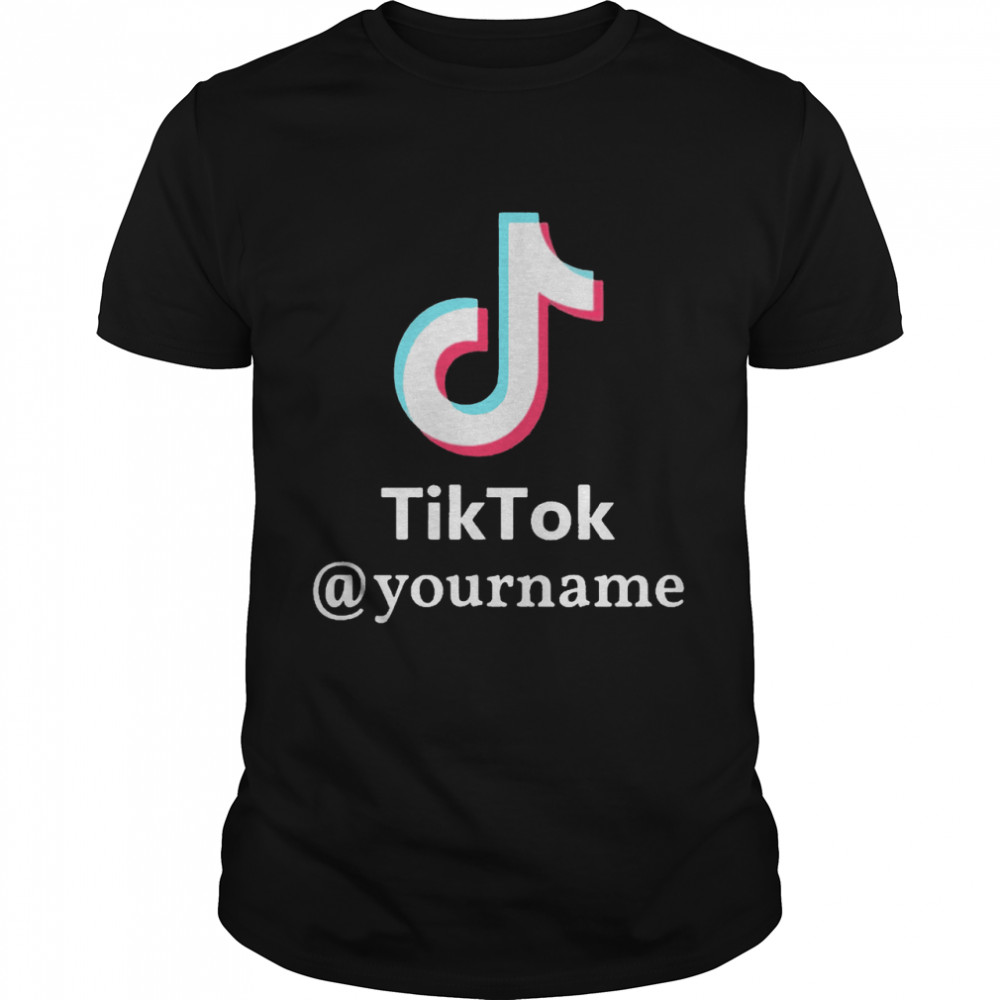 Tiktok @yourname shirt Classic Men's T-shirt